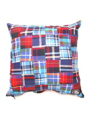 twill patchwork cushion
