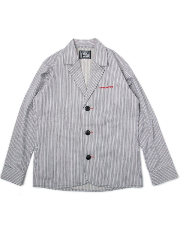 Hickory Stripe Denim Shirts Jacket